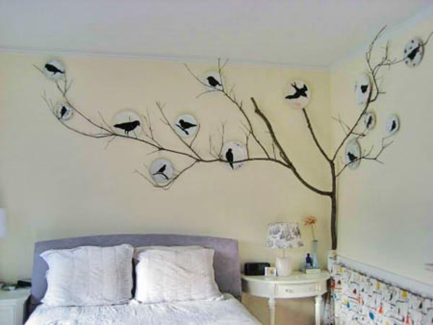 Beauteous Bedroom Wall Art Bedroom Wall Art Home Furniture Ideas To Intended For Most Recent Stencil Wall Art (View 16 of 20)