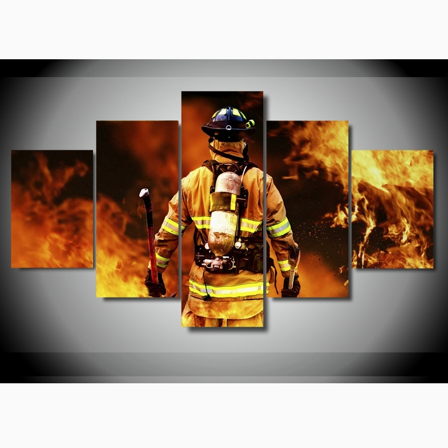 Beautiful Design Firefighter Wall Art – Ishlepark Throughout Current Firefighter Wall Art (Gallery 10 of 15)