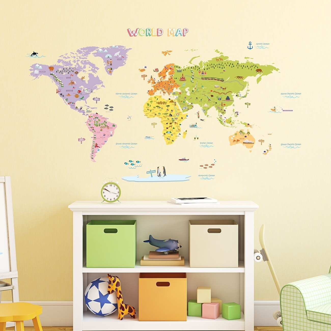 Beautiful Next Wall Art Stickers Ideas The Decorations World Map Throughout Most Recently Released Wall Art Stickers World Map (View 2 of 20)