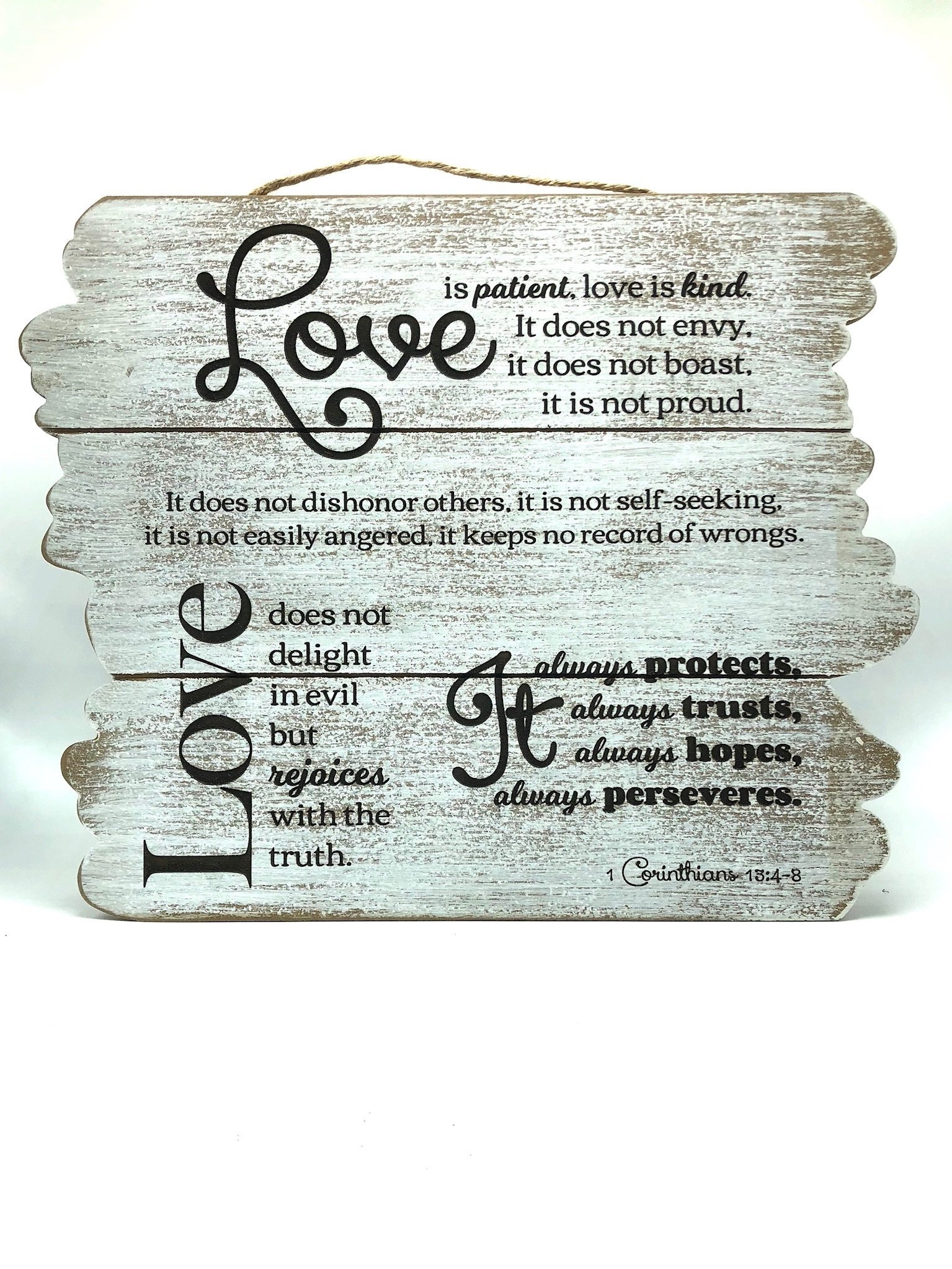 Beautiful Wall Art – Love Is Patient (Wooden Planks) | Fl Unique Intended For 2018 Love Is Patient Wall Art (View 2 of 20)