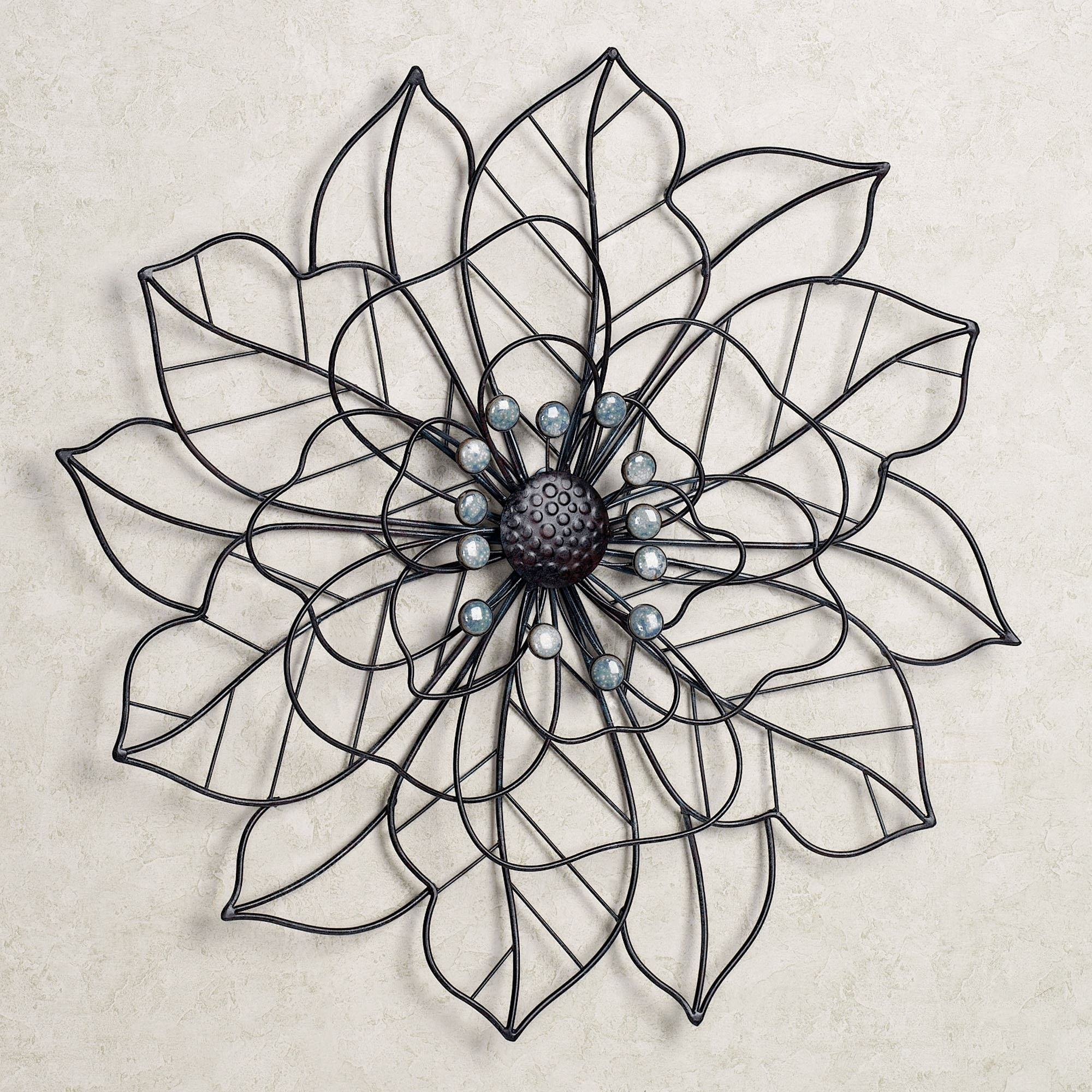 Beauty In Bloom Flower Blossom Metal Wall Art Intended For Newest Metal Flower Wall Art (View 2 of 15)