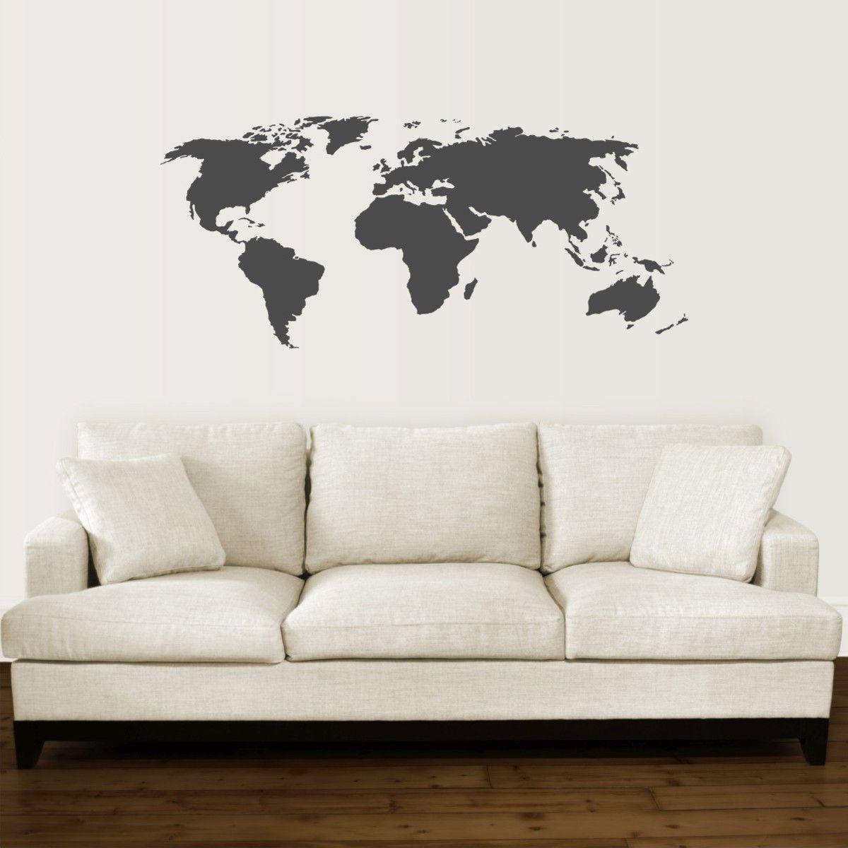 Bedight Wall Art Bedight World Map Vinyl Wall Art | Buy Online In Inside Recent Vinyl Wall Art World Map (View 4 of 20)
