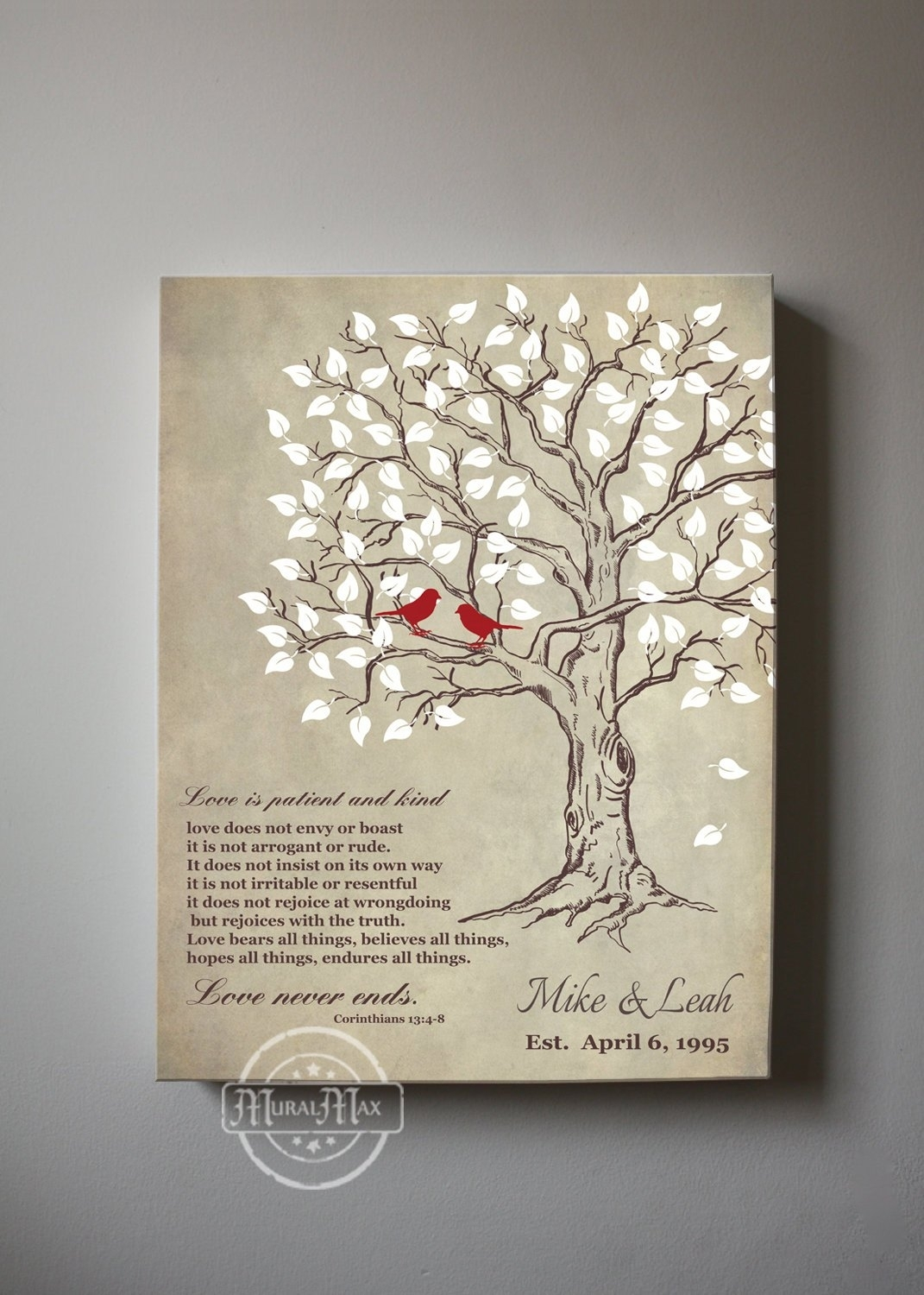 Best Canvas Art Love Is Patient Kind Family Tree With Pic For Wall Pertaining To Recent Love Is Patient Wall Art (View 3 of 20)