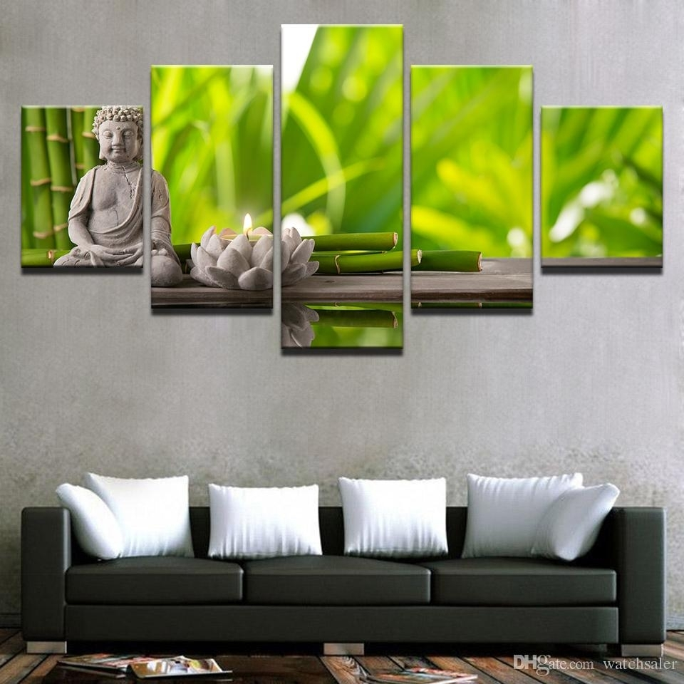 Best Canvas Prints Posters Living Room Wall Art Framework Statue Of Inside Newest Bamboo Wall Art (View 11 of 20)