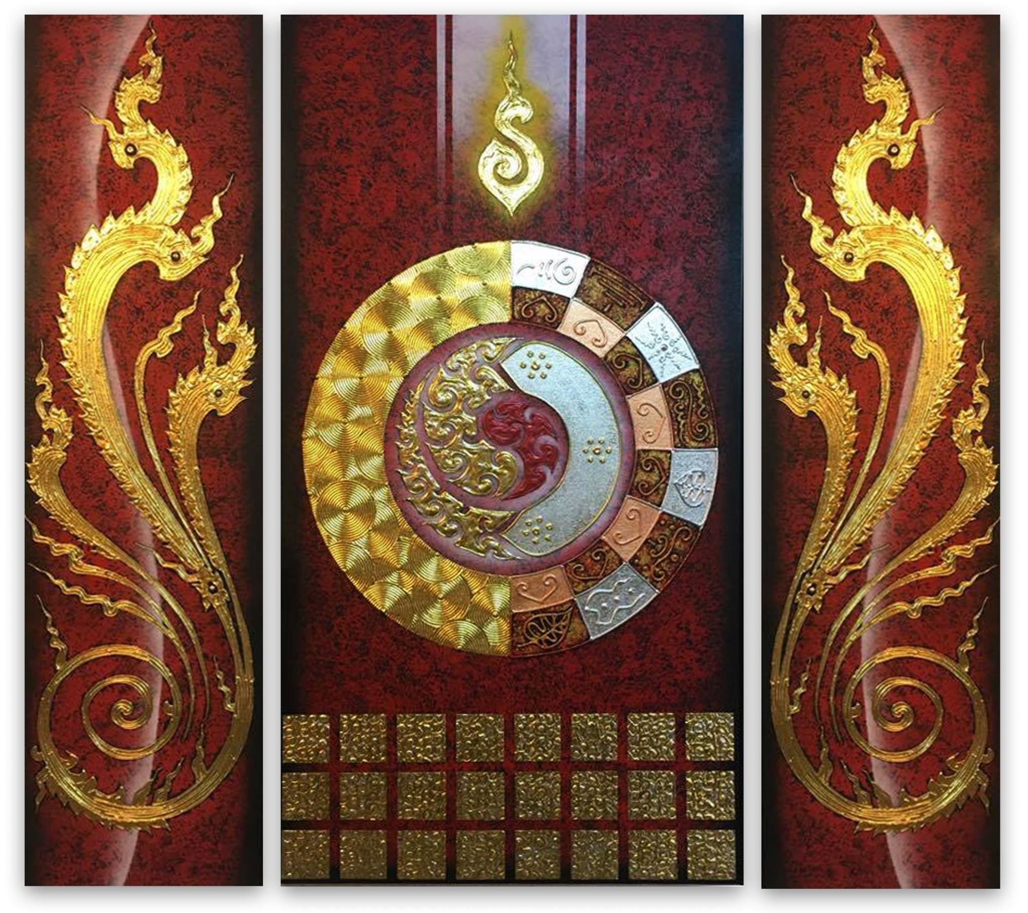 Best Home Decor With Abstract Wall Art One Universe | Royal Thai Art With Newest Wall Art Paintings (View 13 of 20)