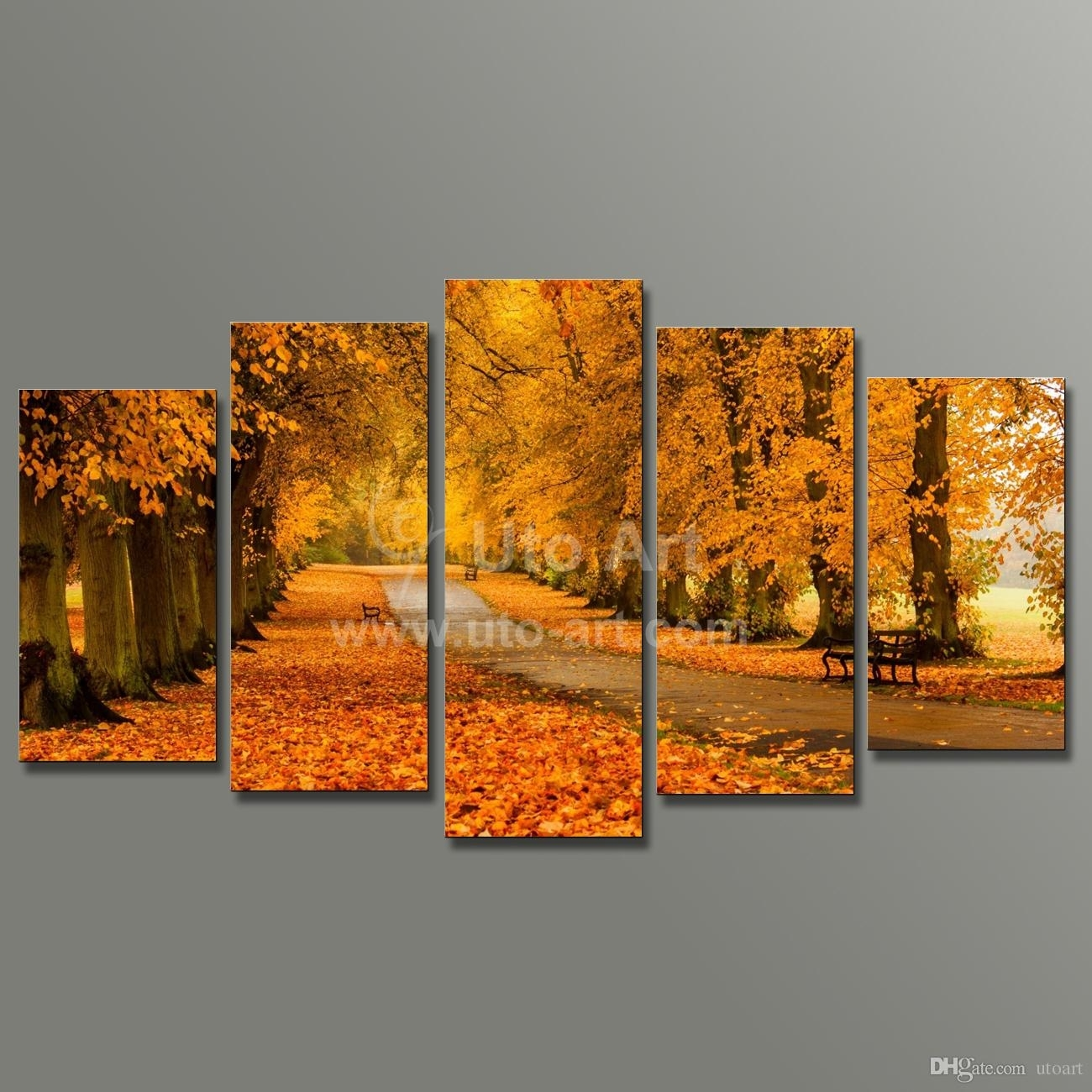 Best Modern Modular Paintings On Canvas 5 Panel Wall Art Painting Of With Regard To Recent Wall Art Canvas (View 6 of 15)