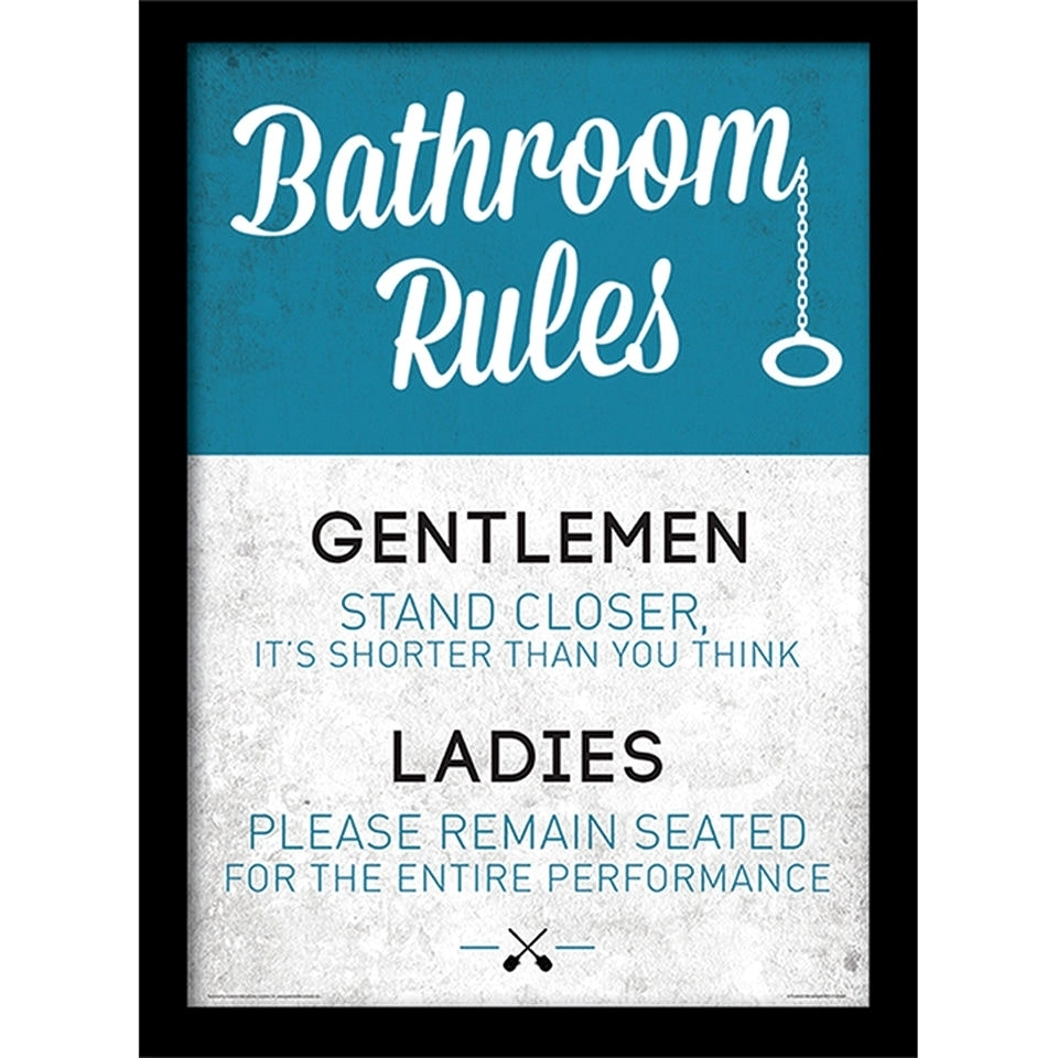 Best Wall Posters Incredible Toilet Rules Poster And Best Ideas Of Regarding Latest Bathroom Rules Wall Art (View 9 of 20)