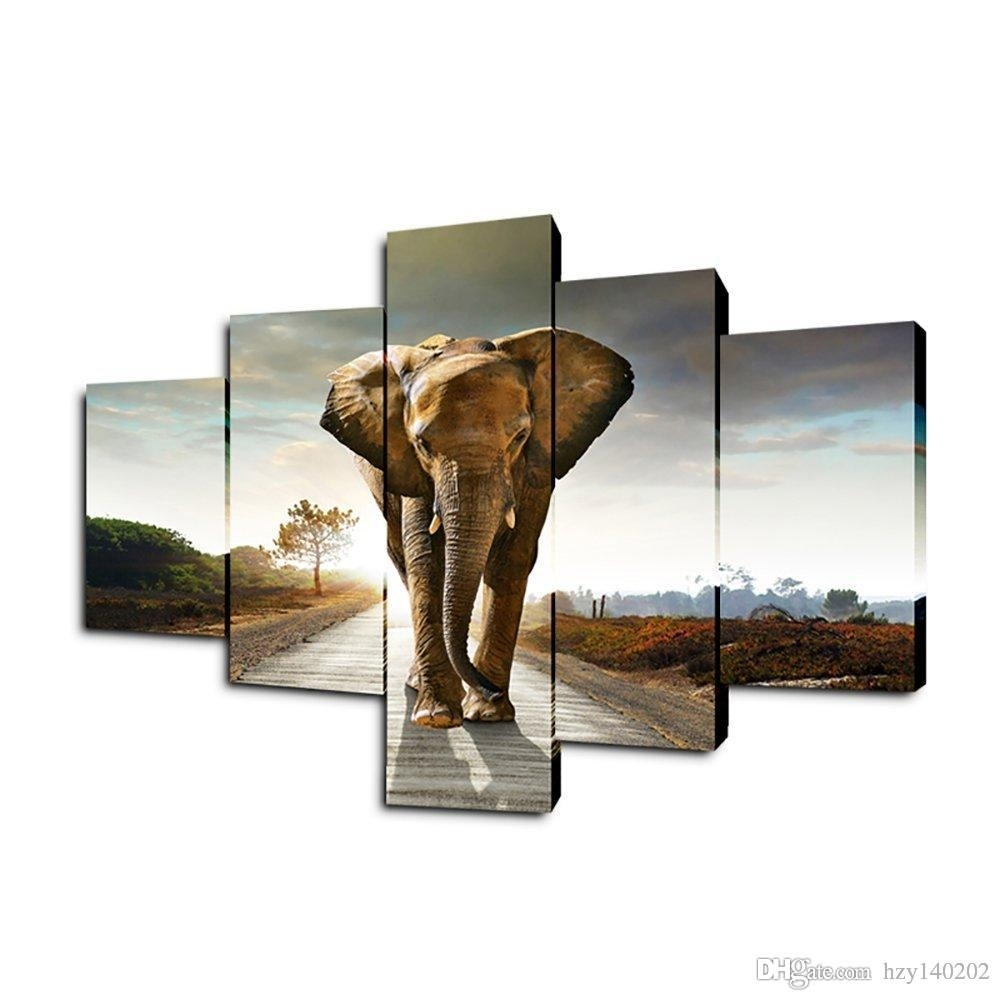 Best Yijiahe Dw5 Canvas Painting Art Elephant Wall Art Pictures Regarding 2017 Elephant Wall Art (View 3 of 15)