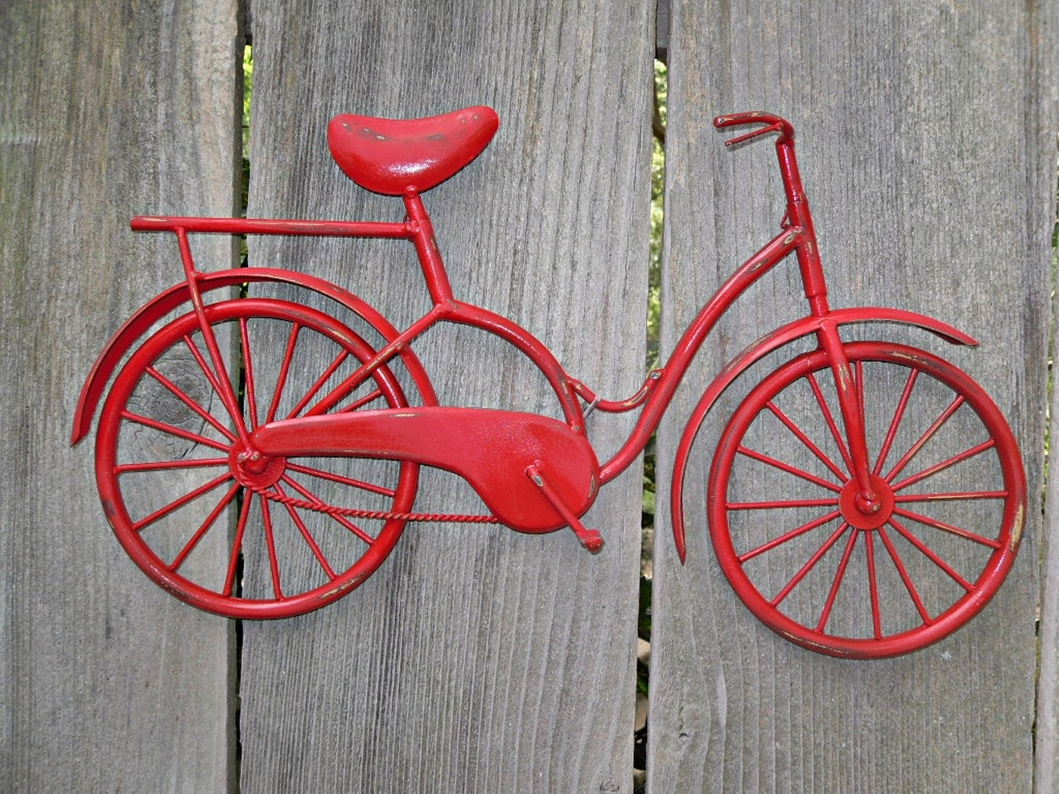 Bicycle Wall Art / Red Wall Decor / Metal Bicycle / Metal Wall Decor Within Latest Bicycle Wall Art (View 7 of 20)