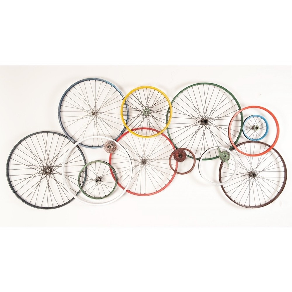 Bicycle Wall Art | Wheels Recycled On Walls Urban Reclaimed Metal With Regard To 2017 Bicycle Wall Art (Gallery 12 of 20)
