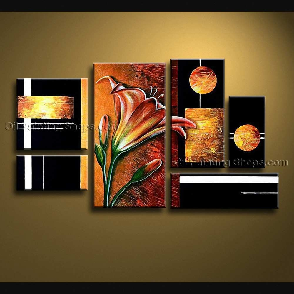 Big Canvas Art Lovely Hand Painted Huge Modern Abstract Painting Pertaining To Latest Modern Large Canvas Wall Art (View 15 of 20)
