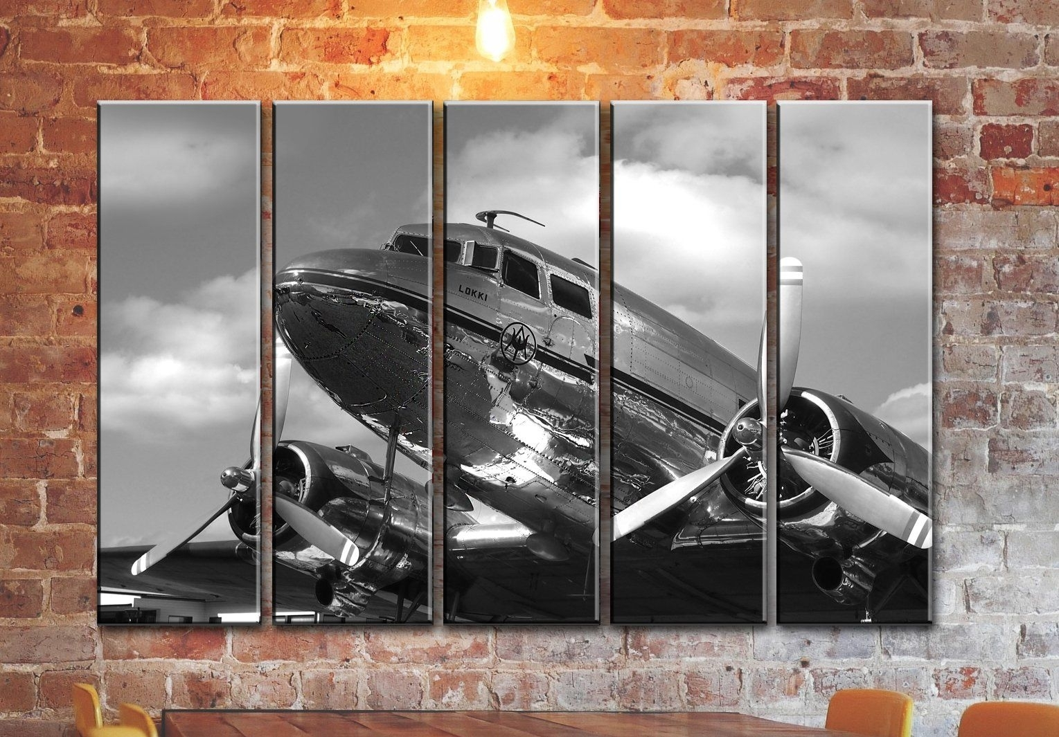 Big Set Airplane Canvas Wall Art / Aircraft Canvas Wall Art In Latest Aviation Wall Art (View 11 of 20)