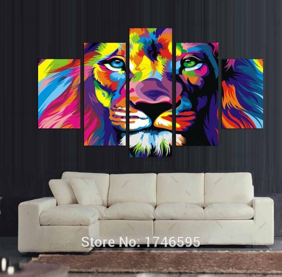 Big Size Abstract Living Room Wall Decor Colorful Wall Art Picture Within Current Colorful Wall Art (View 9 of 20)