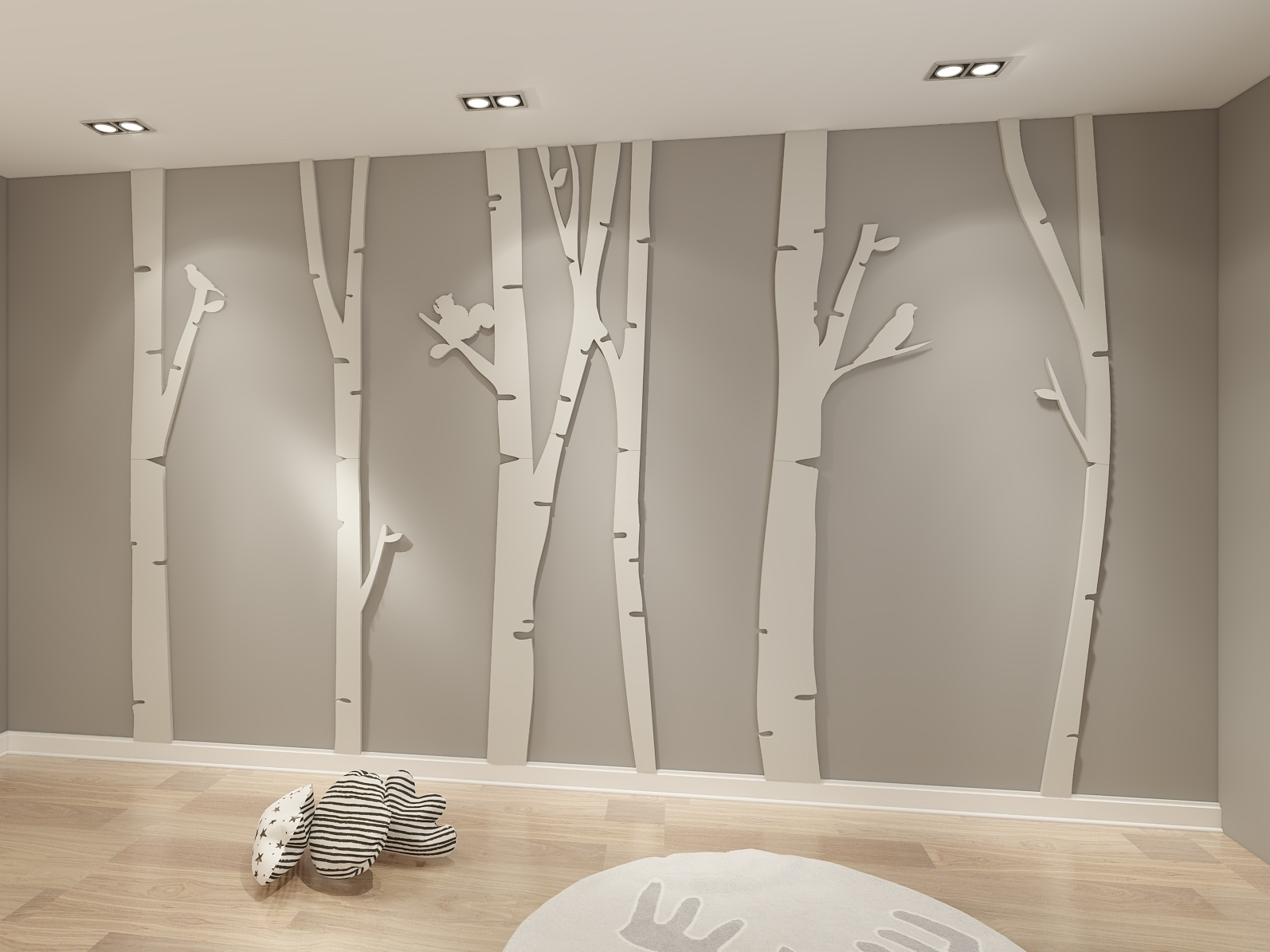 Birch Tree 3D Wall Art – Moonwallstickers Within 2017 Birch Tree Wall Art (View 6 of 20)
