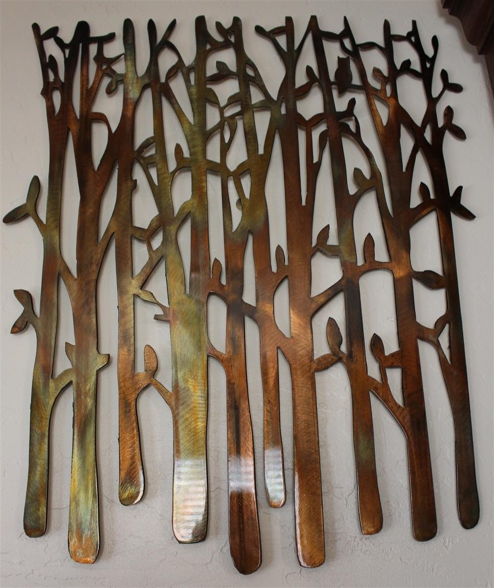 Birch Tree, Birch Tree Metal Art, Bamboo, Bird In The Trees, Bird On In Newest Wall Art Metal (View 2 of 20)