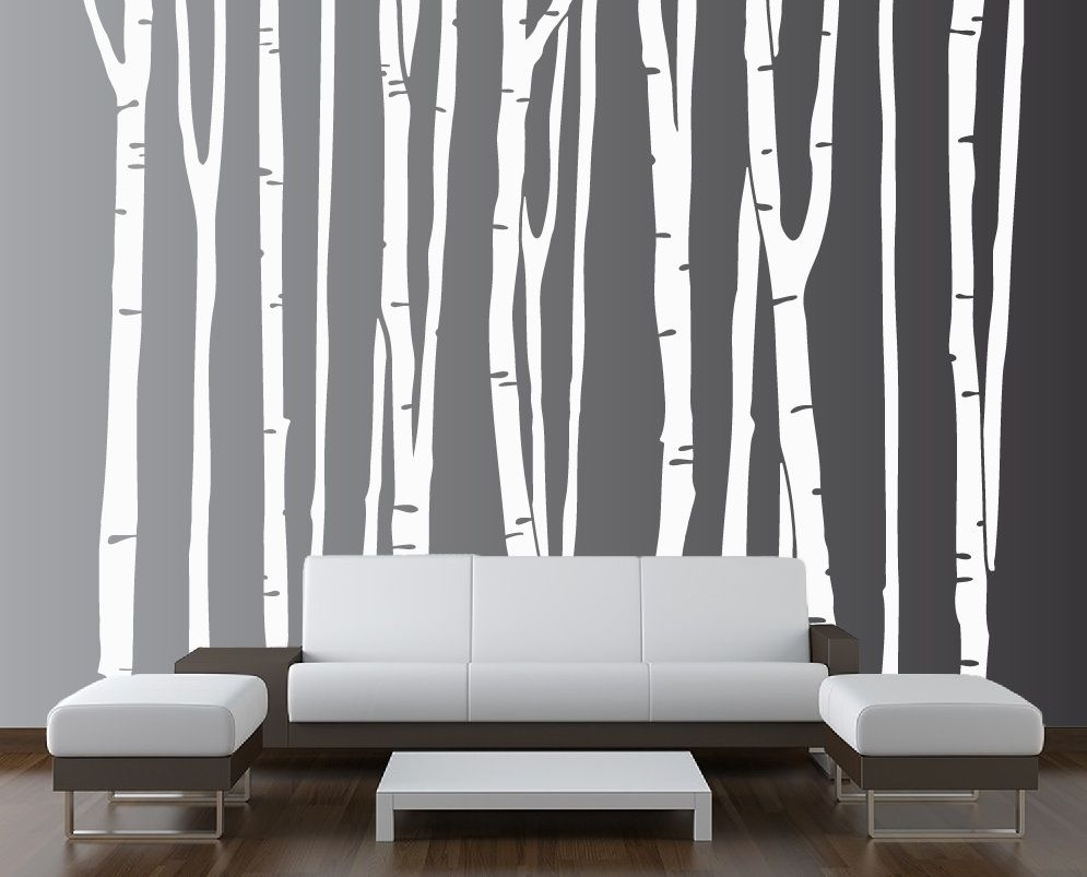 Birch Tree Vinyl Decal Forest #1109 | Birch, Wall Decals And Walls With Regard To Most Recent Birch Tree Wall Art (View 4 of 20)