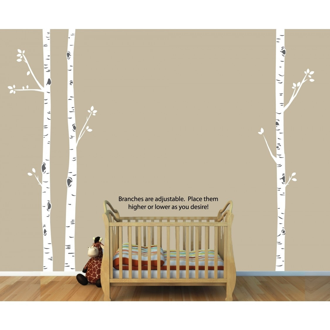 Birch Tree Wall Art And Birch Tree Decals For Nursery For Girls Intended For Most Recently Released Birch Tree Wall Art (Gallery 10 of 20)