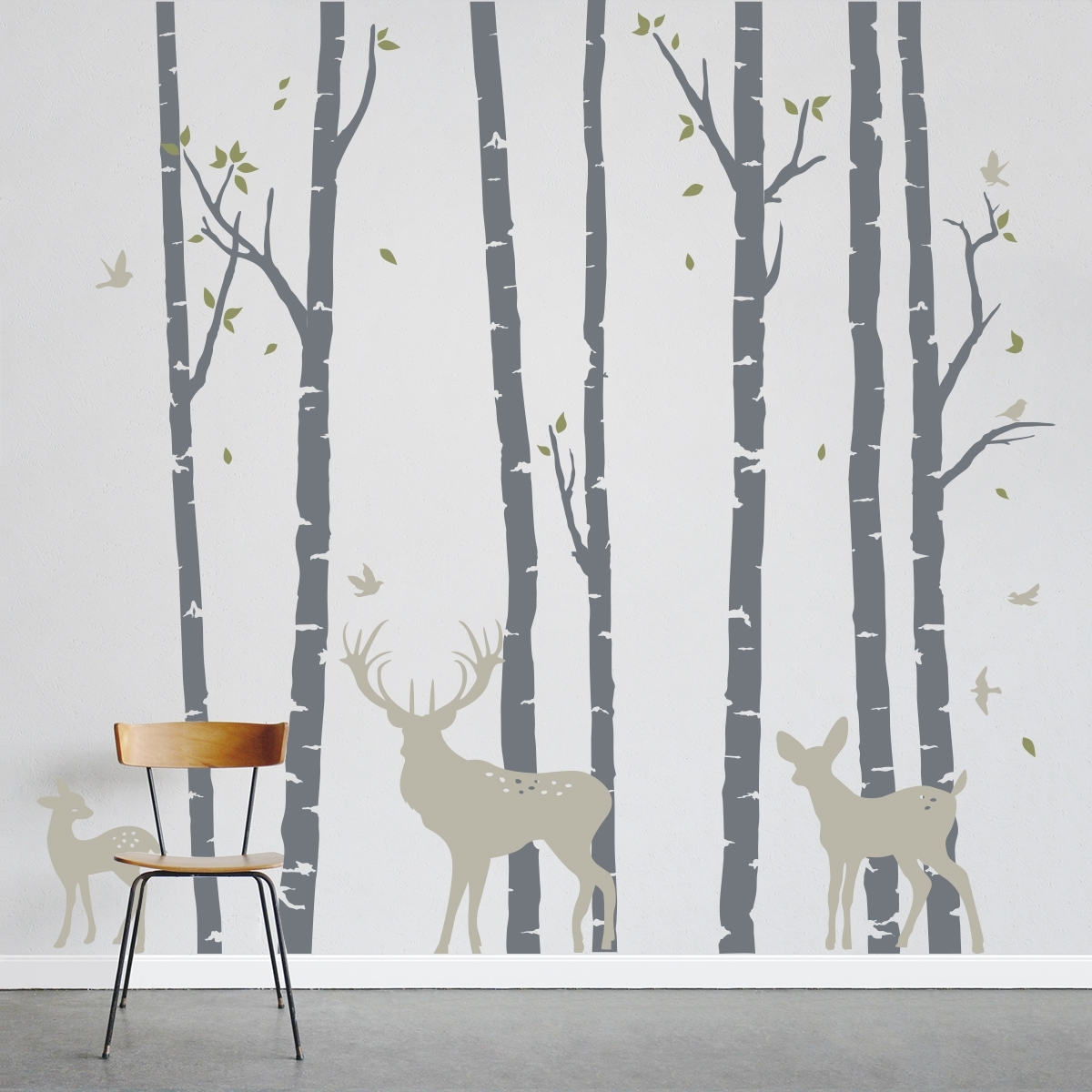 Birch Trees Forest With Fresh Birch Tree Wall Decal – Wall Intended For Most Popular Birch Tree Wall Art (View 8 of 20)
