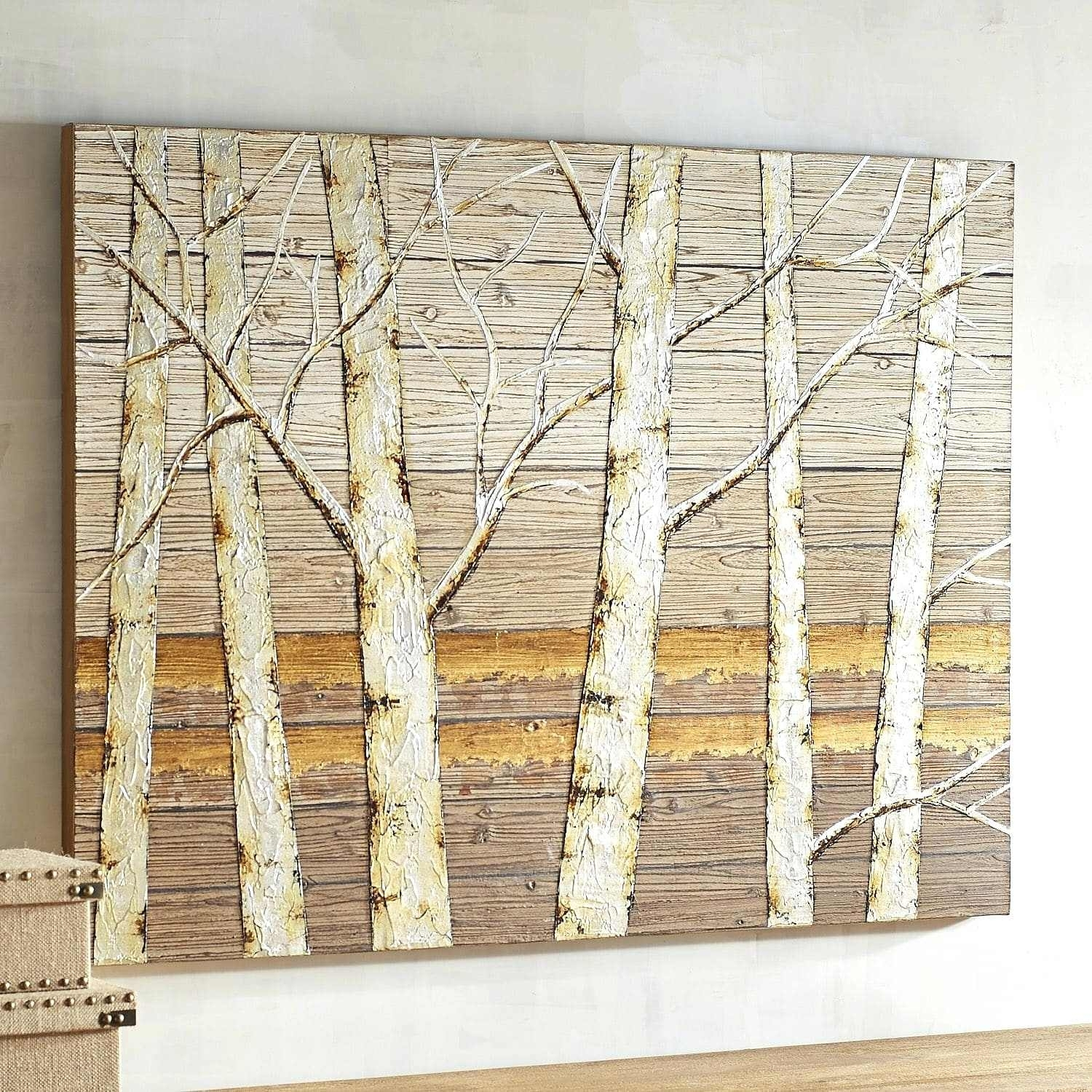 Birch Wall Art Metallic Birch Trees Wall Art Birch Tree Wall Art For 2017 Birch Tree Wall Art (View 5 of 20)