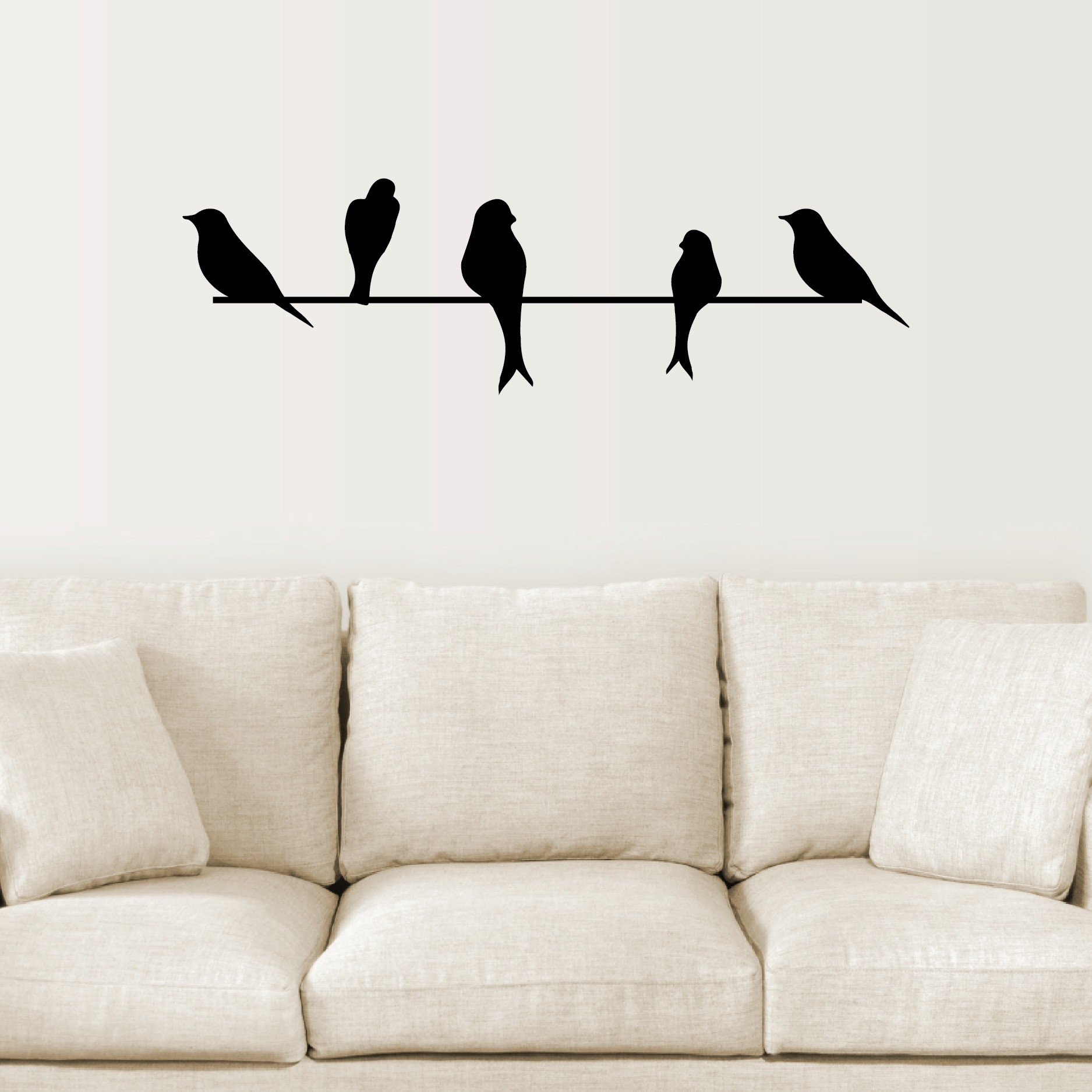 Bird Wall Art Fresh Birds A Wire Takuice Ideas Bright On Canvas In Most Recent Bird Wall Art (View 2 of 15)