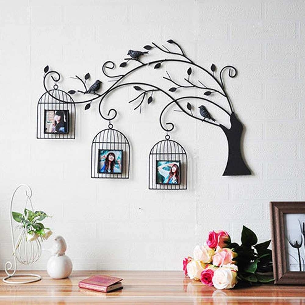 Bird Wall Decor New Metal Wall Art Bird Cages H Wall Decal | Wall In Recent Bird Wall Art (View 3 of 15)