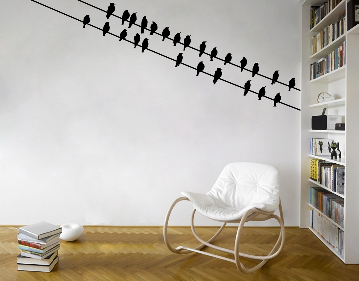 Birds Corner – Your Decal Shop | Nz Designer Wall Art Decals | Wall With Regard To Best And Newest Corner Wall Art (View 3 of 20)