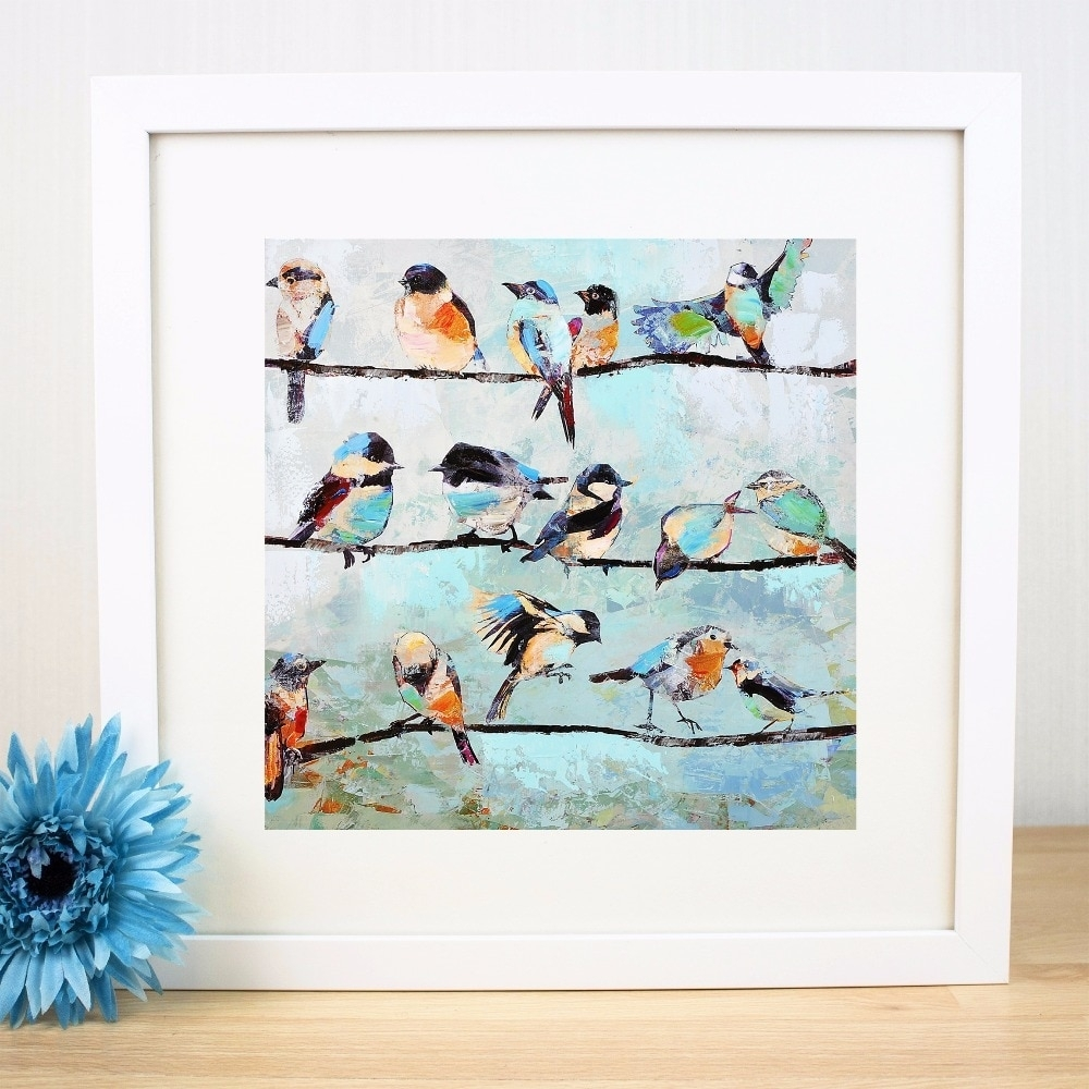Birds On A Wire Artwork Canvas Art Print Painting Poster Wall For 2017 Birds On A Wire Wall Art (View 5 of 20)