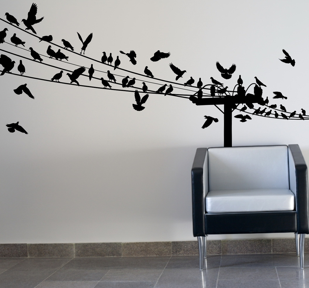 Birds On Wire Wall Art Optimize Every Inch Of Interior With Natural Pertaining To Recent Birds On A Wire Wall Art (View 2 of 20)