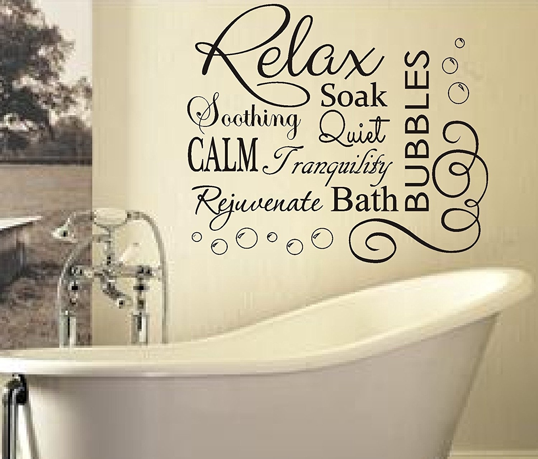 Bjnmw Cute Bathroom Wall Sticker – Wall Decoration Ideas Inside Most Recent Wall Art For Bathroom (View 8 of 20)