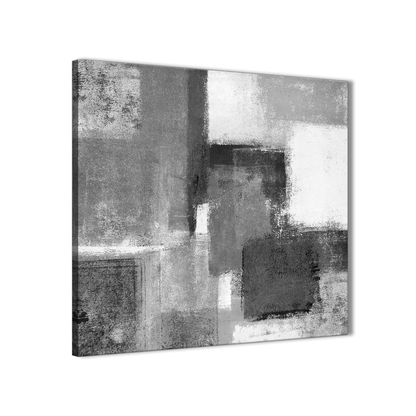 Black White Grey Abstract Office Canvas Wall Art Decorations 1S368L Pertaining To Current White Wall Art (View 2 of 20)