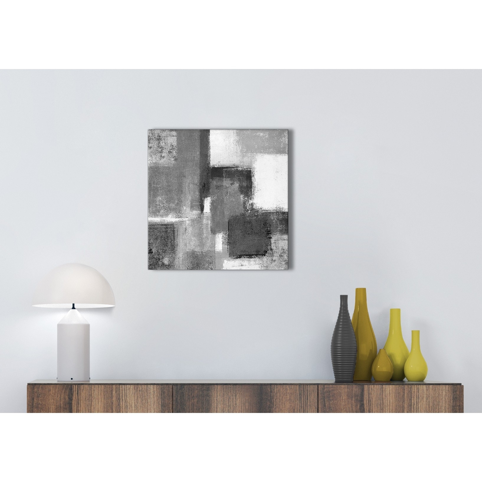 Black White Grey Kitchen Canvas Pictures Accessories – Abstract Pertaining To Most Recently Released Grey And White Wall Art (View 9 of 20)