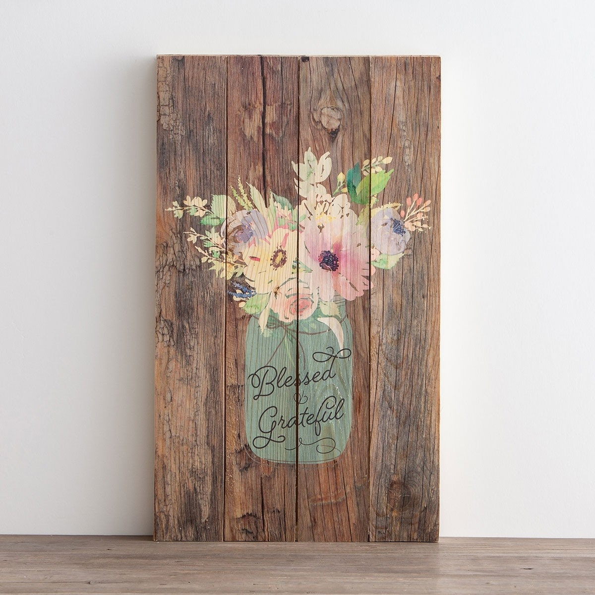 Blessed & Grateful – Plank Wall Art | Dayspring Within Most Up To Date Plank Wall Art (View 3 of 20)