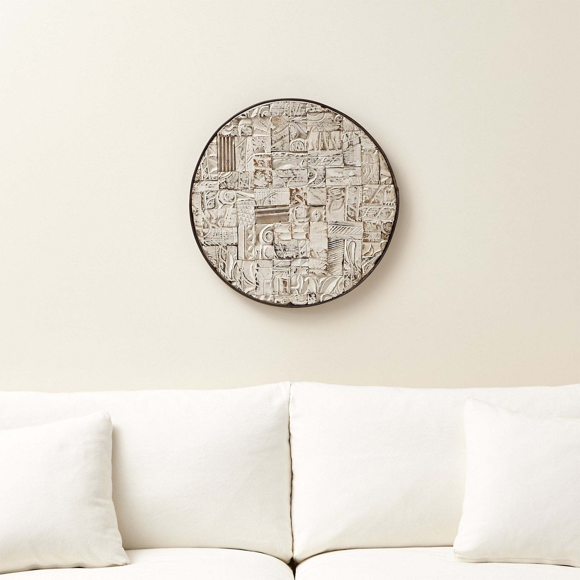 Block Print Reclaimed Wood Wall Art – Crate And Barrel | Reclaimed Pertaining To Most Recent Crate And Barrel Wall Art (View 3 of 20)