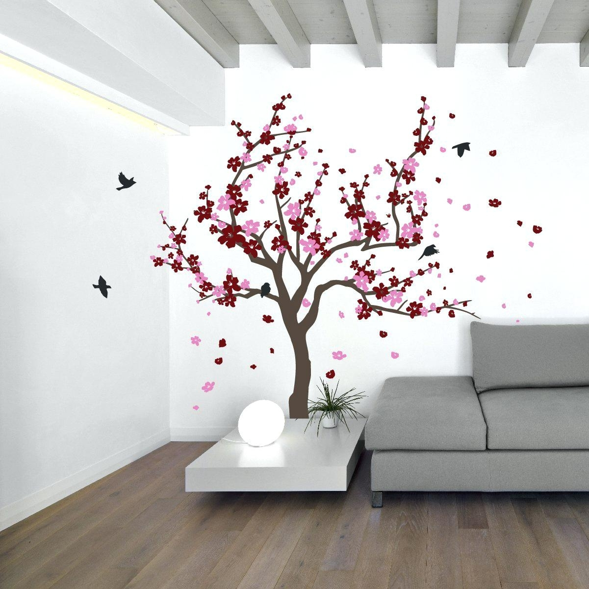 Blossom Tree Wall Decal Uk – Gutesleben Within Newest Cherry Blossom Wall Art (View 3 of 20)