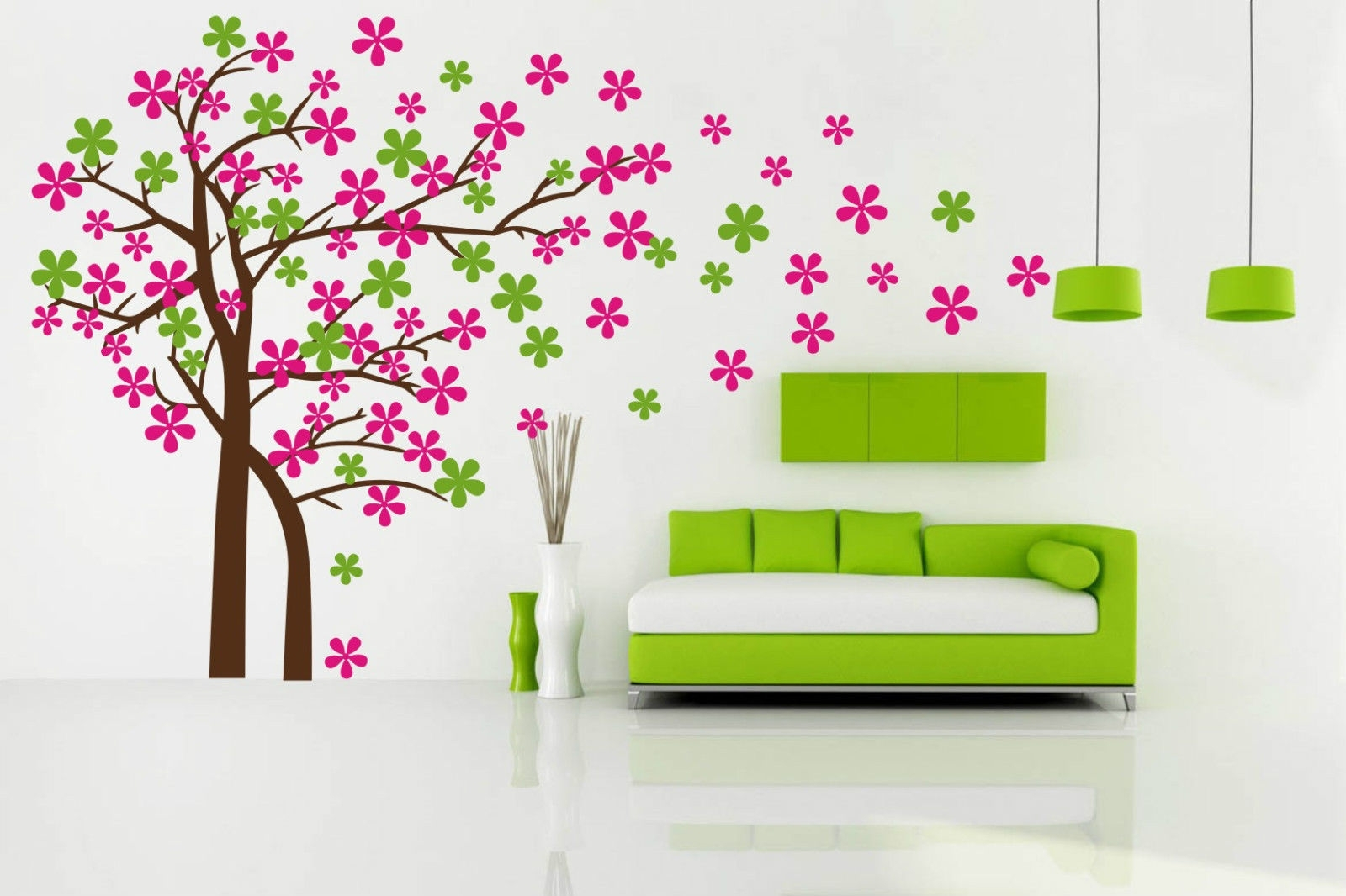 Blowing Tree Removable Wall Art Stickers Kids Nursery Baby Room Throughout Current Baby Room Wall Art (Gallery 18 of 20)