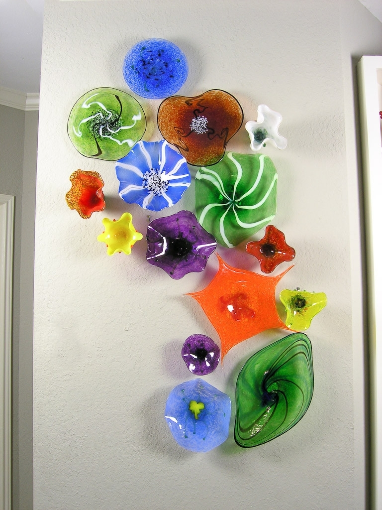 Blown Glass Flower Wall Art Glass Art Pinterest Scheme Of Glass With Regard To Newest Glass Plate Wall Art (View 6 of 15)