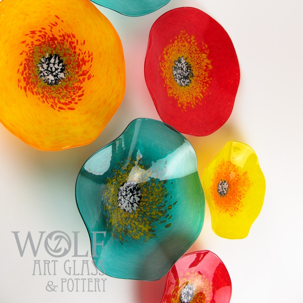 Blown Glass Wall Art, Glass Ornaments, And Blown Recycled Bottle Regarding Most Recently Released Blown Glass Wall Art (View 7 of 20)