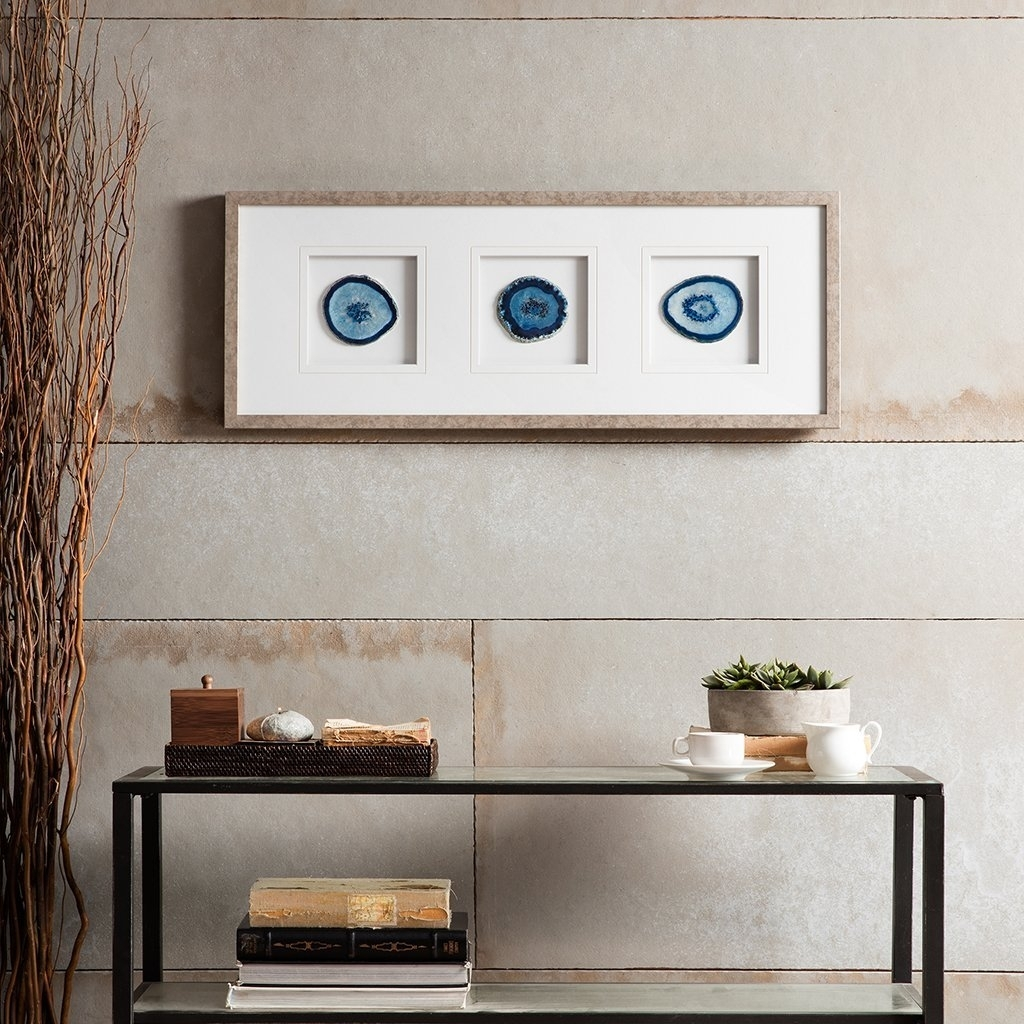 Blue Agate Wall Art : Andrews Living Arts – How To Arrange Agate With Regard To Latest Agate Wall Art (View 18 of 20)