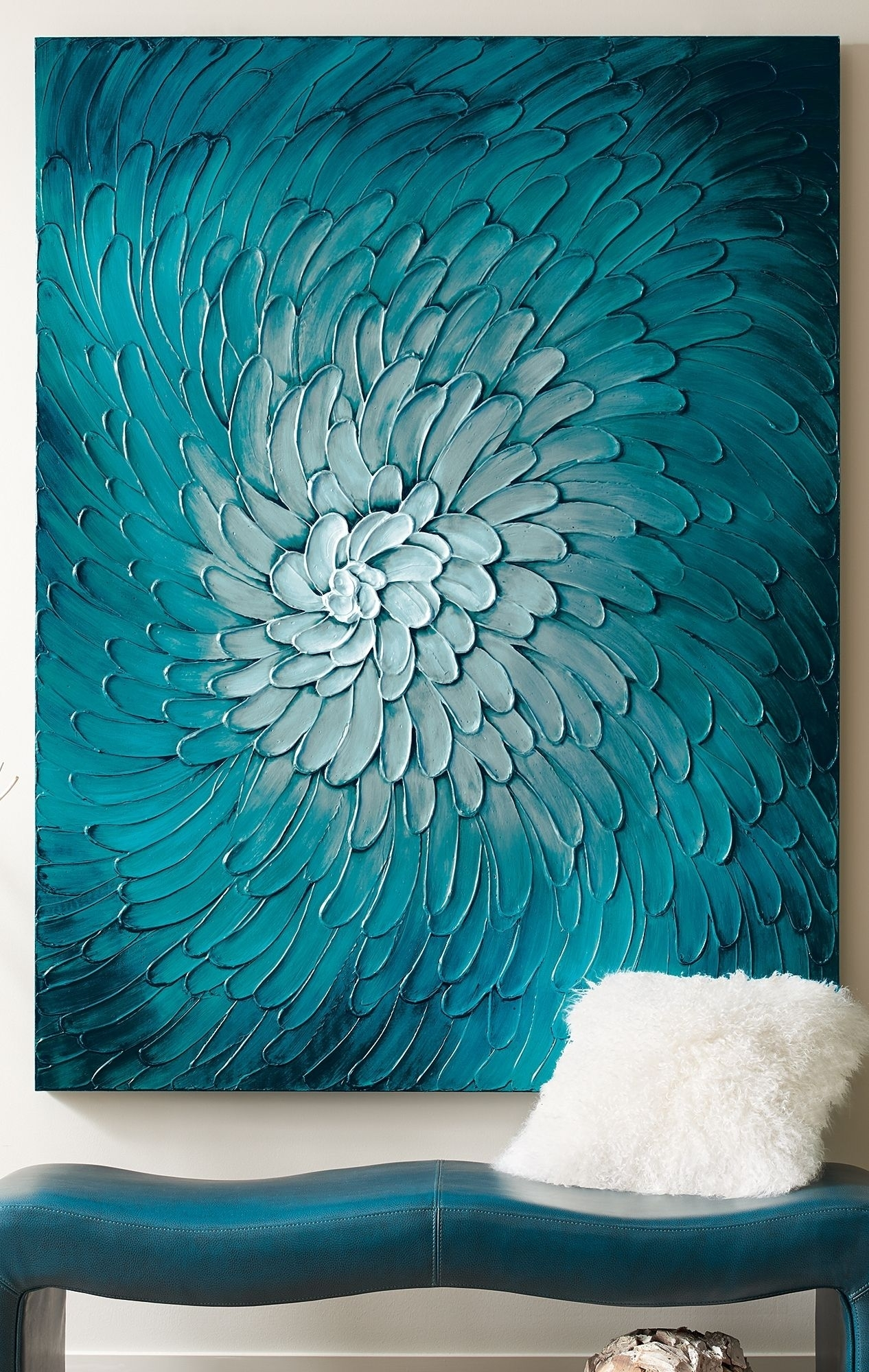 Blue Flora Artwork | Colorful Living Rooms | Pinterest | Flora With Latest Teal Wall Art (Gallery 7 of 15)
