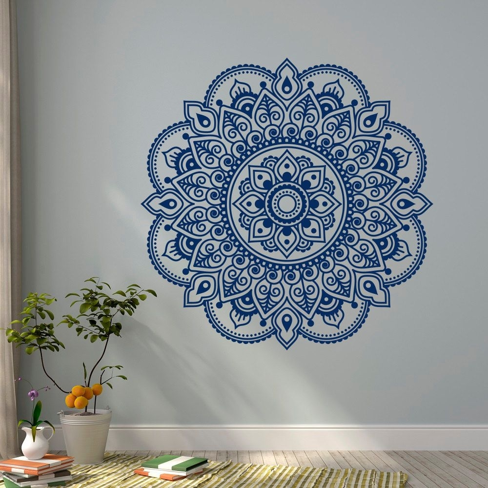 Blue Mandala Wall Art : Andrews Living Arts – How To Arrange Mandala Throughout Most Recently Released Mandala Wall Art (Gallery 8 of 20)