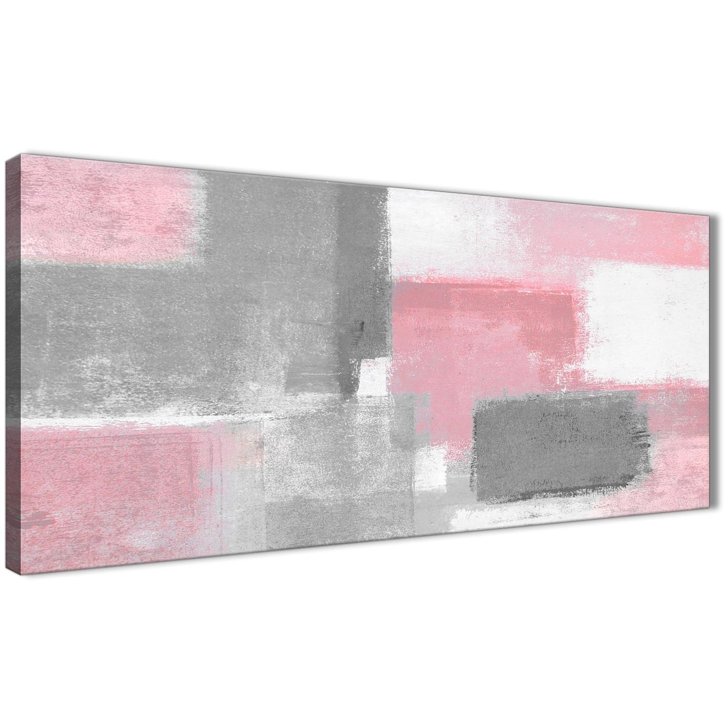 Blush Pink Grey Painting Bedroom Canvas Wall Art Accessories Within Best And Newest Pink Wall Art (View 5 of 20)