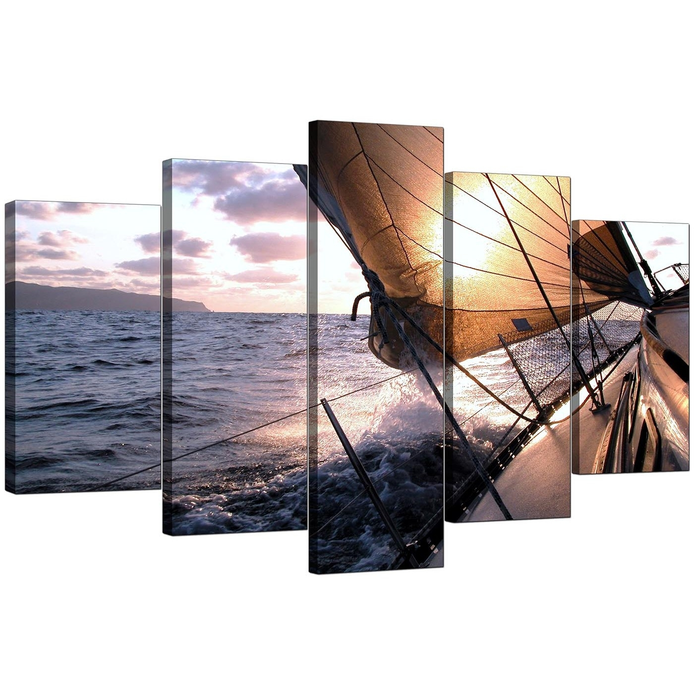 Boat Canvas Prints Uk For Your Living Room – 5 Piece Regarding Most Recent Five Piece Canvas Wall Art (View 4 of 20)