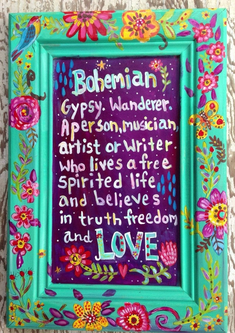 Bohemian Sign Wall Art Gypsy Style | Gypsy | Pinterest | Bohemian Throughout Latest Bohemian Wall Art (View 5 of 20)