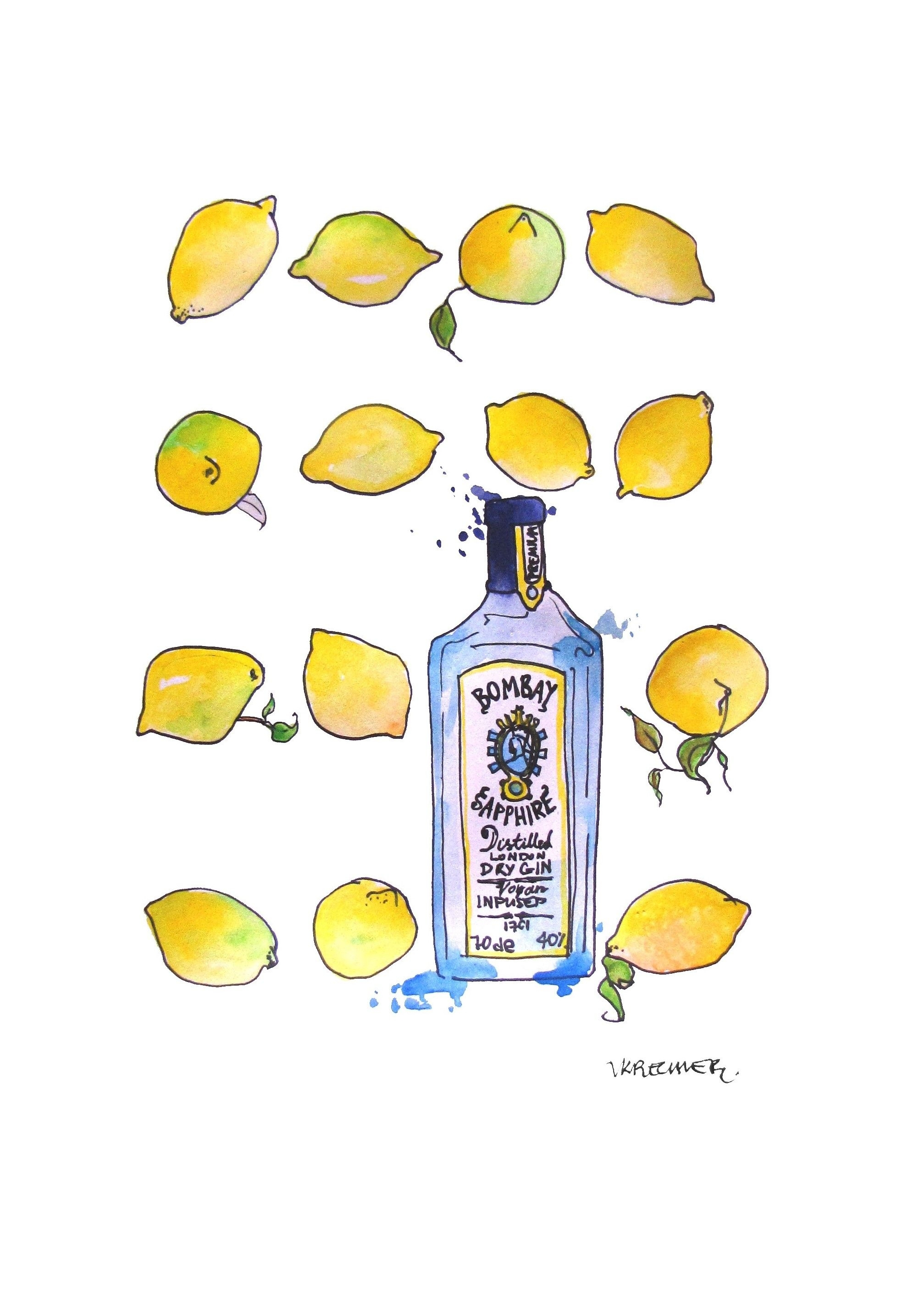 Bombaysapphire #gin #wallart Bombay Sapphire And Lemons Wall Art Intended For 2018 Lemon Wall Art (View 2 of 20)