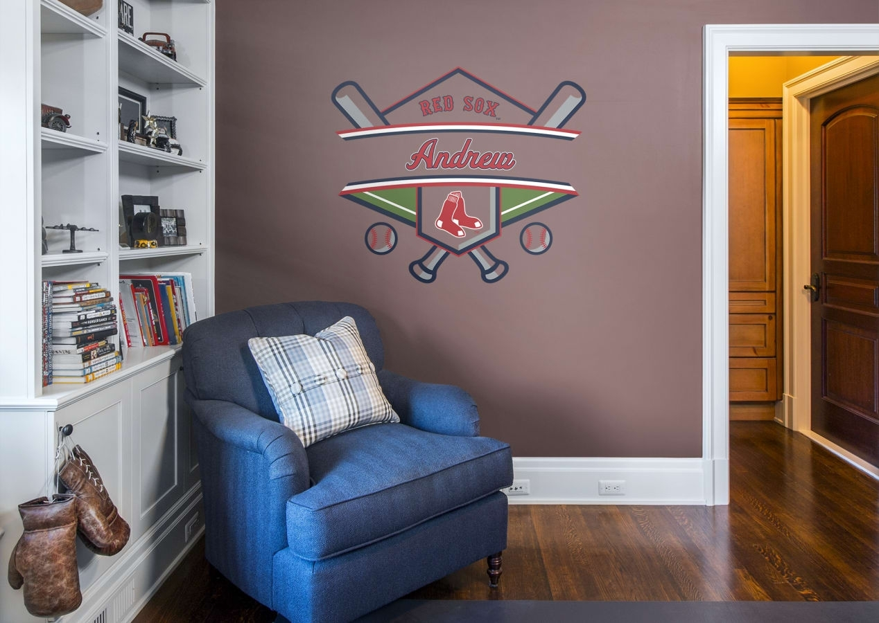 Boston Red Sox Personalized Name Wall Decal | Shop Fathead® For Wall Pertaining To Current Boston Wall Art (View 15 of 20)