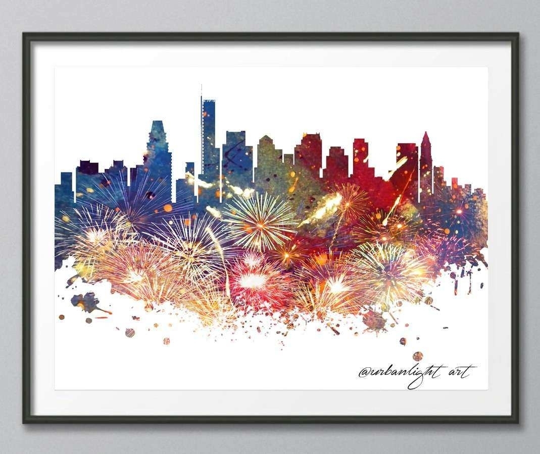 Boston Wall Art Inspirational Skyline Boston Skyline Massachusetts Throughout 2018 Boston Wall Art (Gallery 20 of 20)