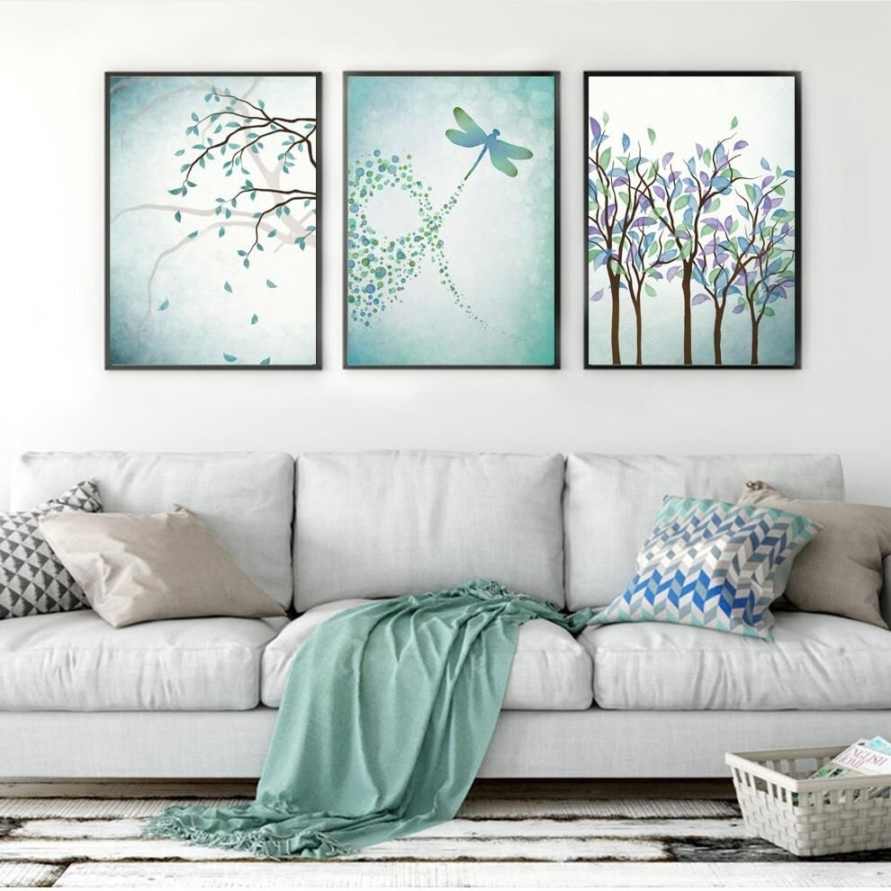 Brand New Arrival Nordic Posters And Prints Plant Wall Art Canvas With Most Popular Dragonfly Painting Wall Art (View 15 of 20)