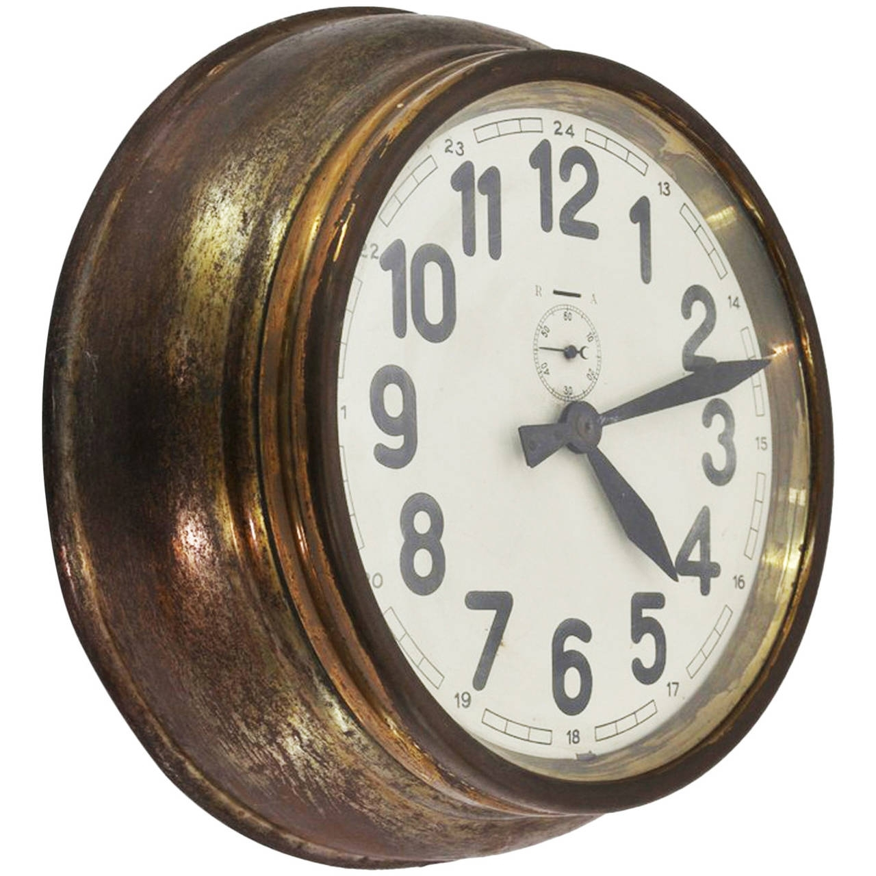Brass Art Deco Wall Clock At 1stdibs Throughout Newest Art Deco Wall Clock (View 5 of 20)