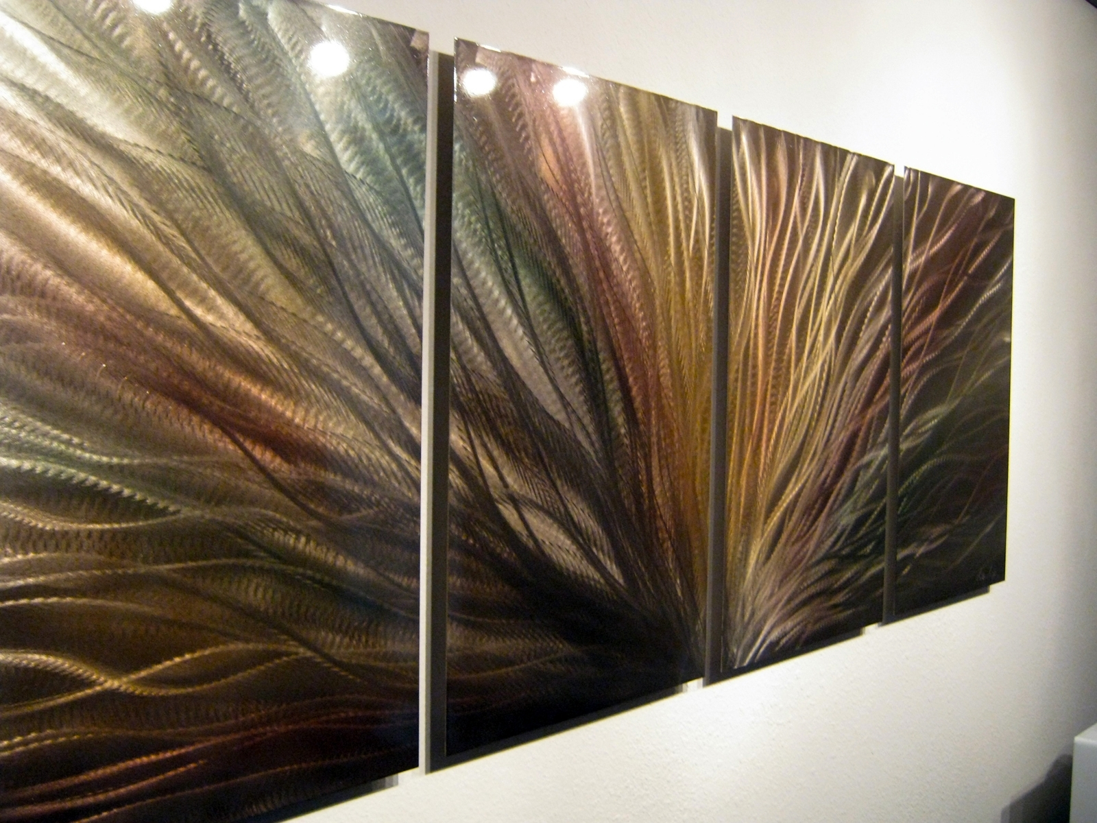 Bronze Radiance – Metal Wall Art Abstract Sculpture Painting Modern For Most Recent Bronze Wall Art (View 5 of 20)