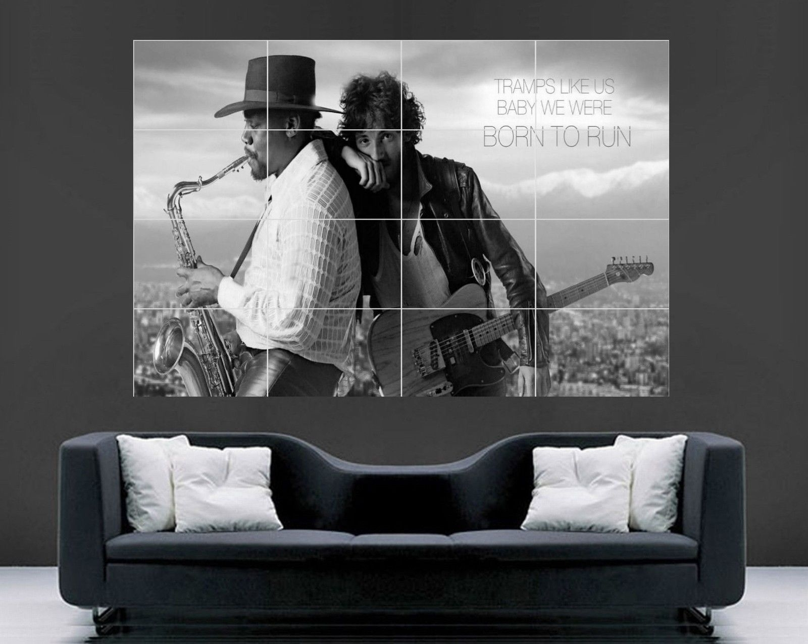 Bruce Springsteen Poster (Giant Wall Art) – Oldvinylvault Regarding Best And Newest Giant Wall Art (View 3 of 20)